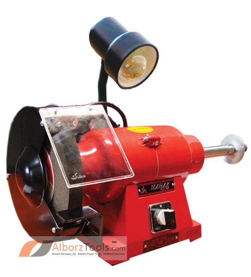 تصویر ماشین سنگ پرداخت چراغ دار محک PGD 200-3/1 L