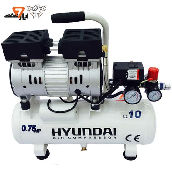 کمپرسور هوا سایلنت 10 لیتری هیوندای مدل 1075-AC