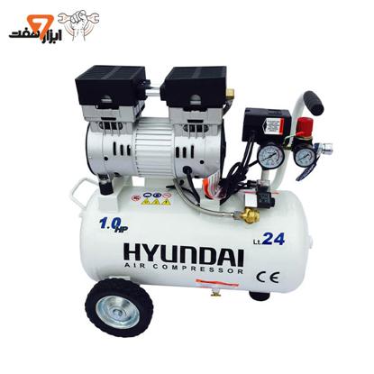 کمپرسور باد سایلنت 24 لیتری هیوندای مدل 1024-AC