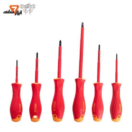 ست 6 عددی پیچ گوشتی عایق برق اینکو مدل HKISD0608